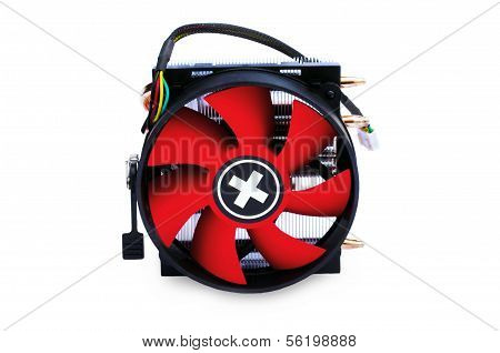 Modern Electric Fan Isolated On White Background