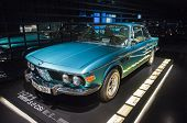 Munich, Germany- June 17, 2012: Bmw 3.0 Csi Coupe Automobile On Stand In Bmw Museum In June 17, 2012