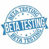 Beta-Test-Stempel