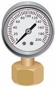 picture of vacuum pump  - Pressure gauge measuring instrument of pressure in the pipeline - JPG