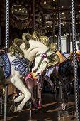 stock photo of carousel horse  - carousel horses - JPG