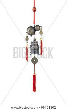 calabash and bell wind chime
