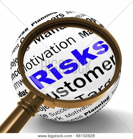 Risks Magnifier Definition Shows Insecurity And Financial Risks