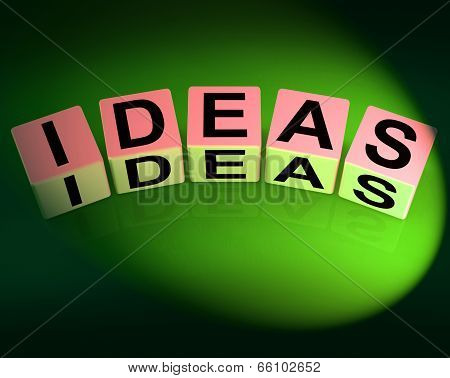 Ideas Dice Mean Thoughts Thinking And Perception
