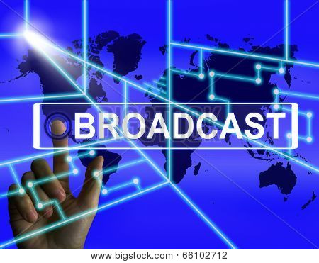 Broadcast Screen Shows International Broadcasting And Transmissi