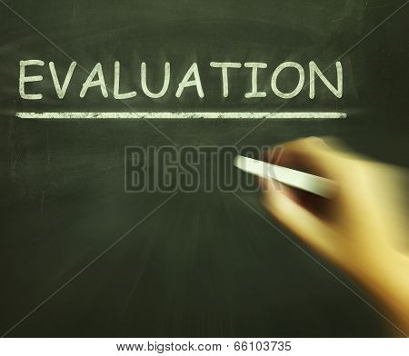 Evaluation Chalk Means Judgement Interpretation And Opinion