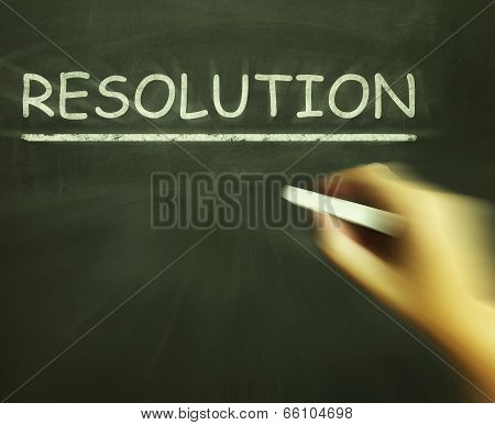 Resolution Chalk Means Solution Settlement Or Outcome
