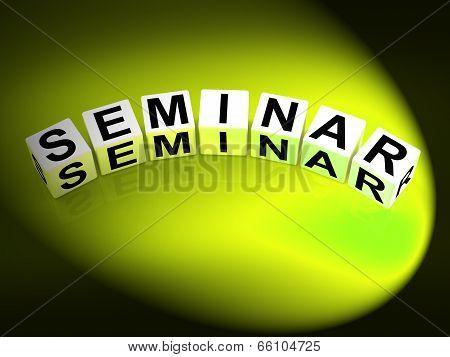 Seminar Dice Represent A Convention Symposium Or Workshop
