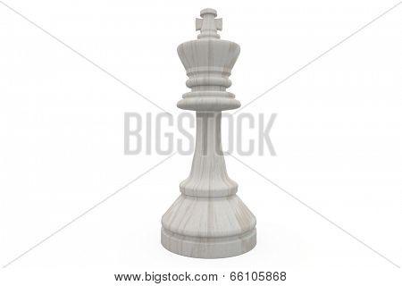 White king chess piece on white background