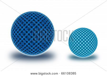 Two Chekered Spheres In The Comparative Form