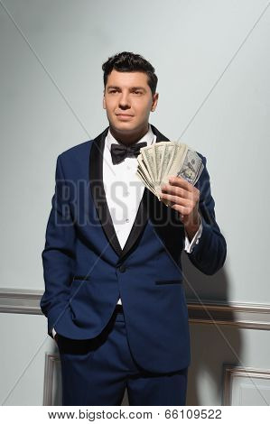 Showman with money