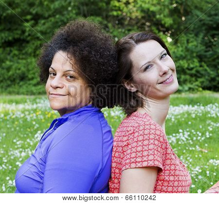 Two Women In Park