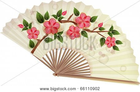The view of folding fan