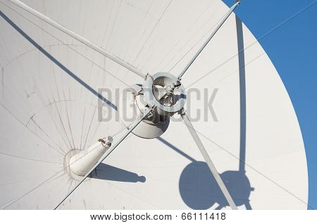 Radio Telescope Against The Blue Sky