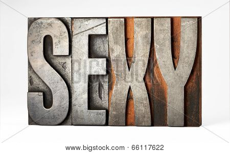 Sorts Or Printers Blocks With The Word - Sexy