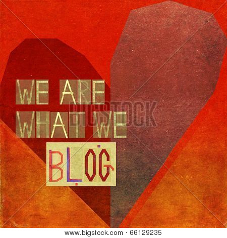 We are what we blog