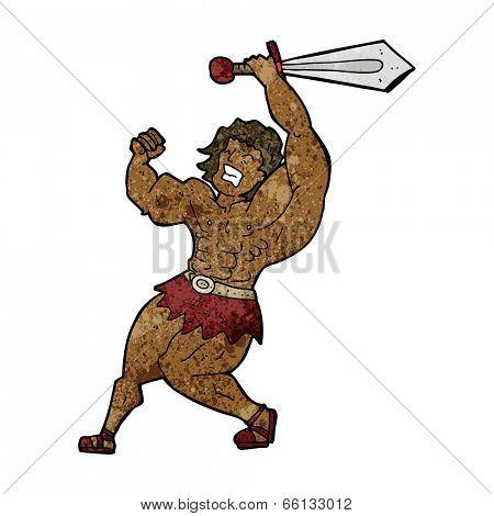 cartoon barbarian hero