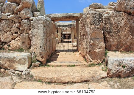 ancient Megalithic Temple of Malta