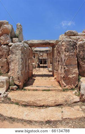 ancient Hagar Qim temple of Malta