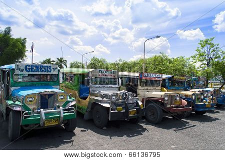 Jeepneys Parking in Angeles.