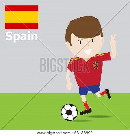 Cute Spain Soccer Player.