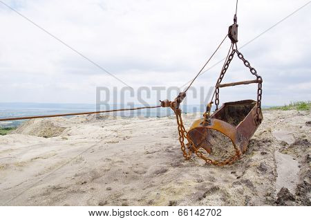 Backhoe On Mine Excavator With Chain