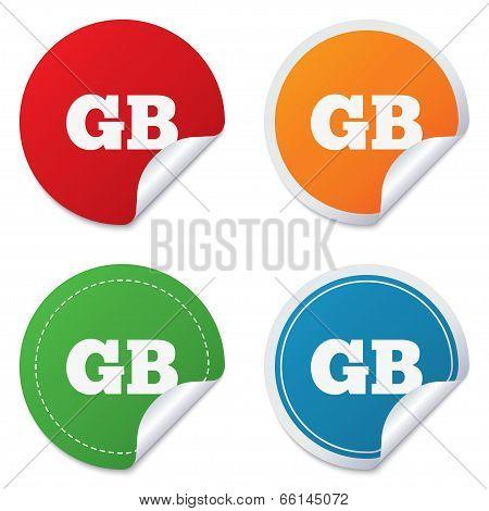 British language sign icon. GB translation.