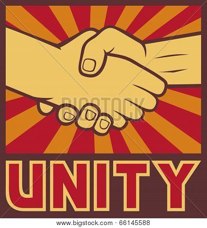 unity poster - handshake unity design