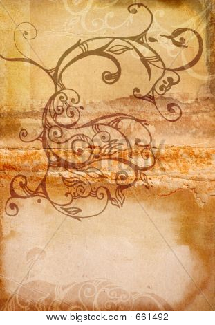 Grunge Swirls Book Spread