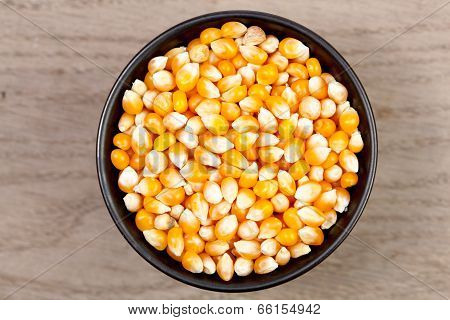 Dry Corn In Bowl