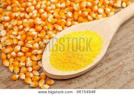 Spoon With Corn Meal