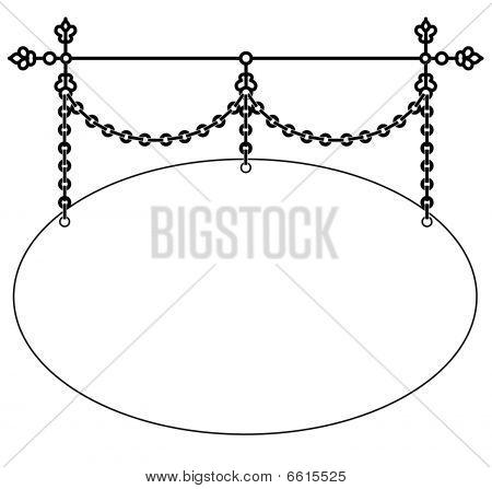 Elegant Hanging Sign