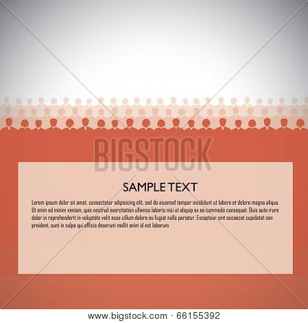 Background Of People, Audience, Viewers, Students With Copyspace - Template Vector