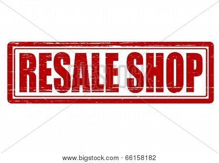 Stamp with text resale shop inside vector illustration