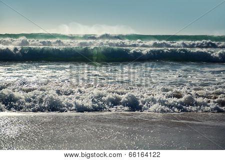 Ocean Waves. Cadiz, Spain