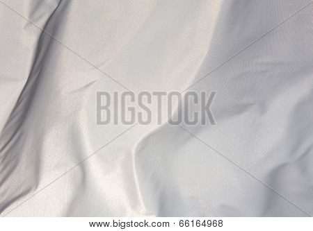 White Fabric In The Wind