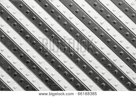 Panel With  Black White Slanting Striped Pattern