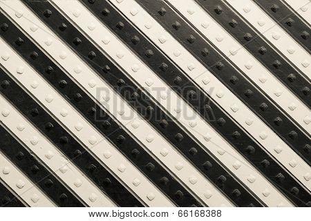 Panel With  Black Beige Slanting Striped Pattern