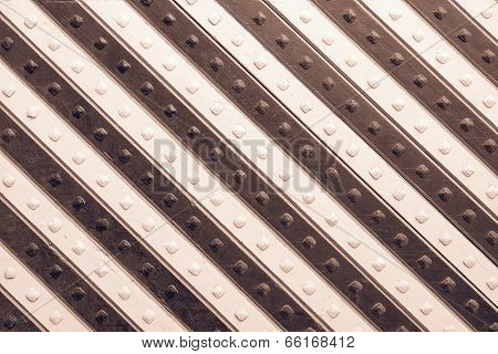 Panel With Brown Beige Slanting Striped Pattern