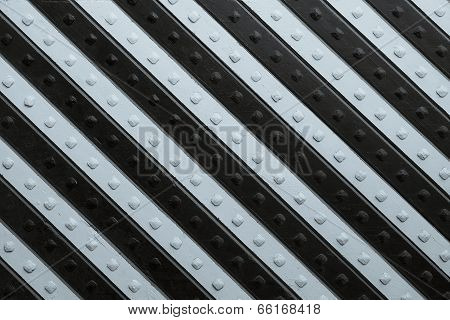 Panel With Black Silvery Slanting Striped Pattern