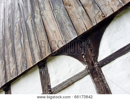 The Wall Of Half Timbered House