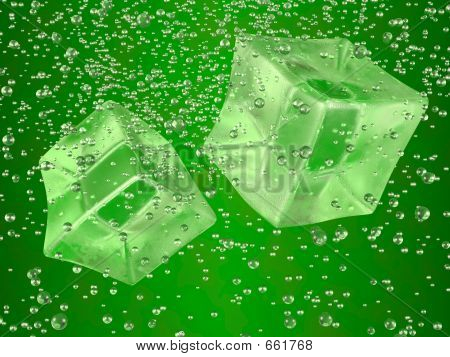 Ice Cubes Green