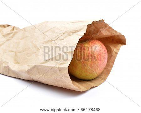 Apple In Paper Bag