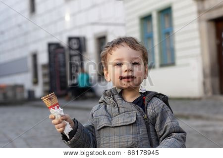Kid With Ice Cream Cone