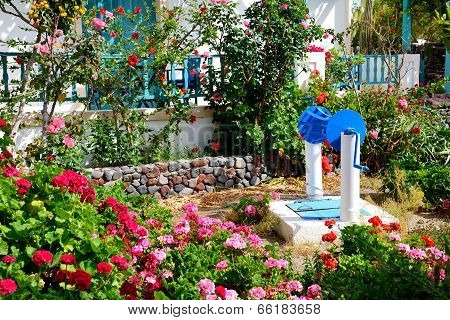 The Decoration Of Hotel In Traditional Greek Style, Santorini Island, Greece