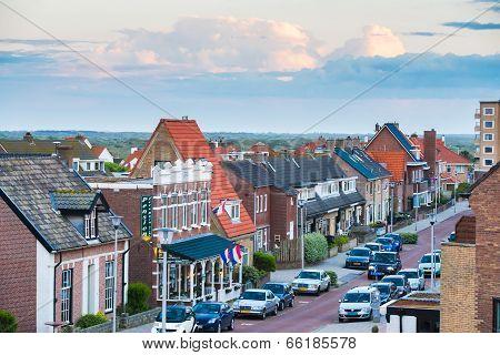 Zandwoort Town Center In Holland