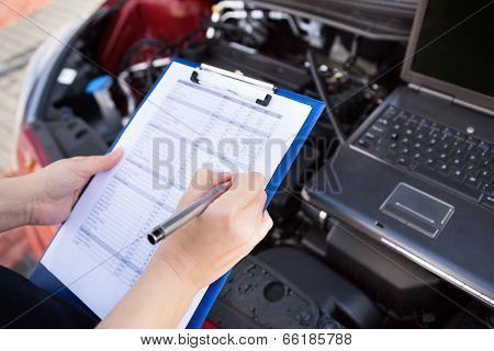 Male Mechanic Car Engine