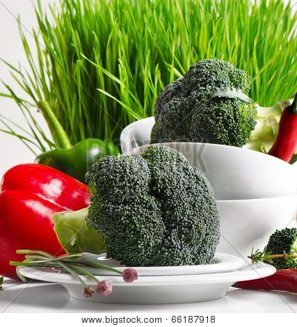 Fresh Broccolli With Vegetables