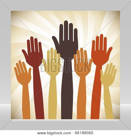 Voting hands design.