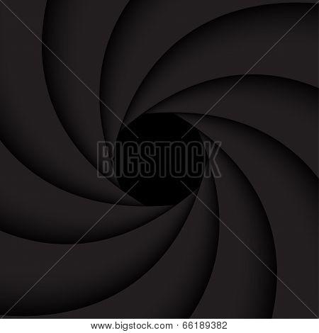 Black shutter aperture